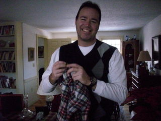 Jan with the kilt he always wanted