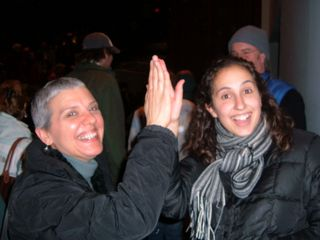 Anna and I after shaking hands with Obama in Keene, NH, 01.08