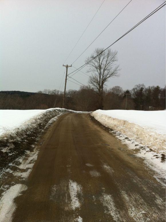 Winter running views